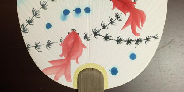夏休み水墨画一日教室 うちわに絵を描こう!